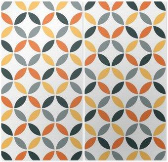 Dittico Arancione geometrica Retro Seamless Pattern
