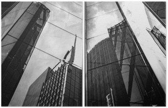 Dittico Architettura moderna in bianco e nero