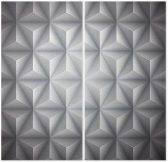 Dittico Geometrico grigio astratto basso numero di poligoni sfondo della carta. Vettore
