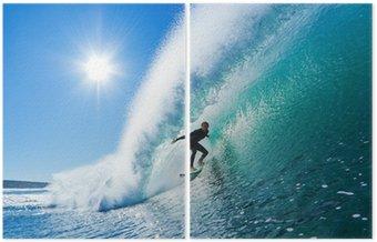 Dittico Surfer on Blue Ocean Wave