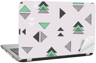 Dizüstü Bilgisayar Çıkartması Dikişsiz elle çizilmiş üçgenler desen.