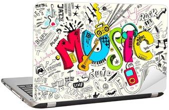 Dizüstü Bilgisayar Çıkartması Müzik Doodle