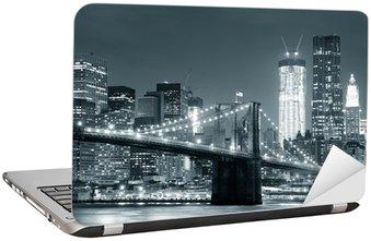 Dizüstü Bilgisayar Çıkartması New York Brooklyn Köprüsü