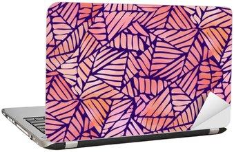 Dizüstü Bilgisayar Çıkartması Suluboya soyut seamless pattern. vektör çizim