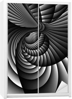 Dolap Çıkartması 3D Özet Spiral