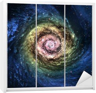 Dolap Çıkartması Bir yerde derin uzayda İnanılmaz güzel sarmal gökada