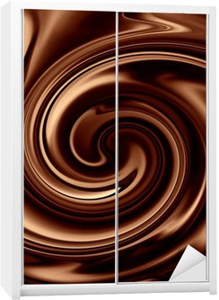 Dolap Çıkartması Çikolata arka plan