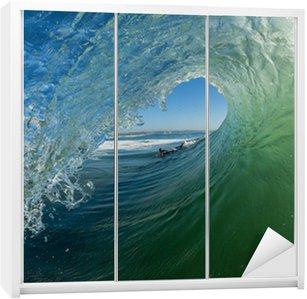 Dolap Çıkartması Dalga Hollow Tüp Ride Surfer Açısı