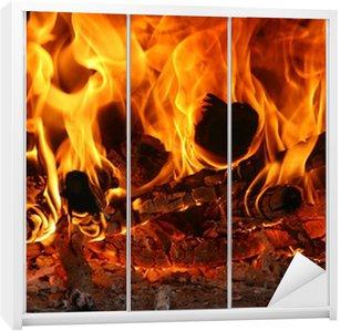 Dolap Çıkartması Feu Yangın Flammes Flames Chaleur Isı