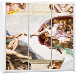 Dolap Çıkartması Michelangelo, Sistine Şapeli, Roma ile Adem'in Yaratılışı