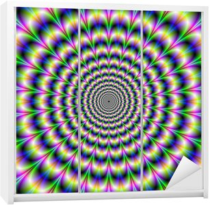 Dolap Çıkartması Mor ve Yeşil Psychedelic Darbe