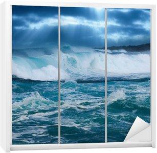 Dolap Çıkartması Okyanus dalgası