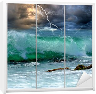 Dolap Çıkartması Okyanus fırtına