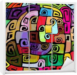 Dolap Çıkartması Renkli modern tasarım
