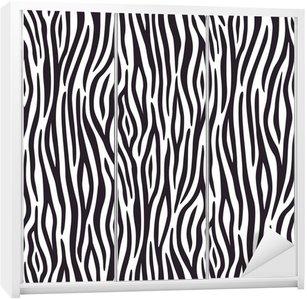 Dolap Çıkartması Zebra deri desen ile sorunsuz arka plan