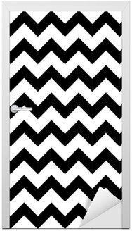 Abstract geometric zigzag seamless pattern. vector Door Sticker