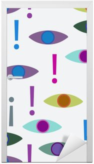Abstract seamless background Door Sticker