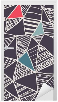 Abstract seamless doodle pattern Door Sticker