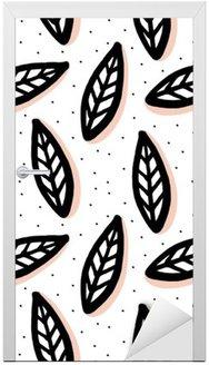 Abstract seamless pattern in scandinavian style. Door Sticker