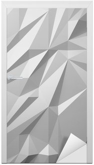 abstract white background low poly Door Sticker
