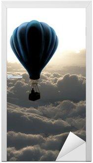 air balloon on sky Door Sticker