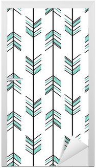 arrow seamless vector pattern background hipster illustration Door Sticker