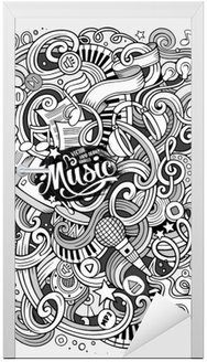 Cartoon hand-drawn doodles Musical illustration
