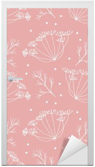 Dill or fennel flowers and leaves pattern. Door Sticker