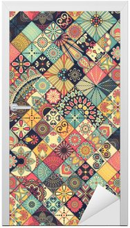 Ethnic floral seamless pattern Door Sticker