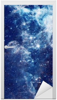 Galaxy illustration, space background with stars, nebula, cosmos clouds Door Sticker
