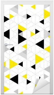 Geometric Pattern Background Door Sticker