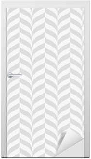 Door Sticker Geometric pattern, vector seamless background