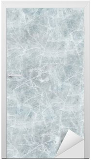 Ice cover seamless texture. Door Sticker