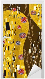 klimt inspired abstract art Door Sticker