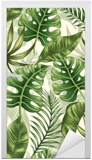 Leaves pattern Door Sticker