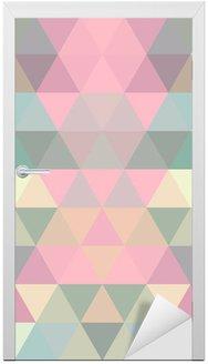 Door Sticker Mosaic triangle background. Geometric background