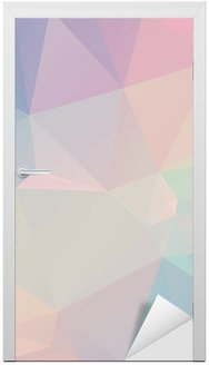 Pastel Polygon Geometric Door Sticker