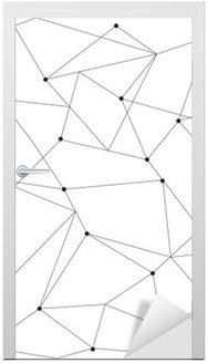 scandinavian geometric modern seamless pattern Door Sticker