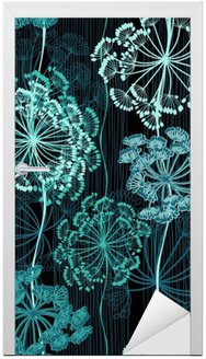 Seamless pattern of abstract flowers. Hand-drawn floral backgrou