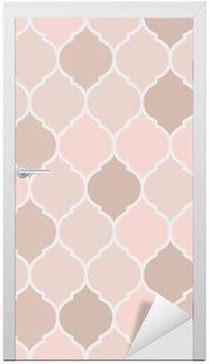 Seamless pattern pink tiles, vector Door Sticker