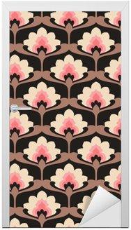 seamless vintage floral pattern Door Sticker