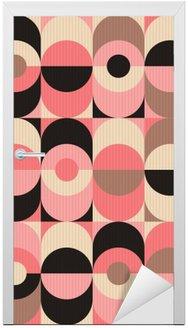 seamless vintage geometric pattern Door Sticker