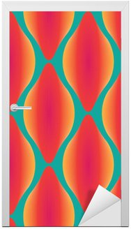 vector colorful abstract contemporary seamless geometric pattern Door Sticker