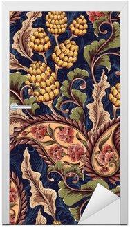 Door Sticker Victorian seamless pattern