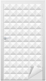Door Sticker White tiles, squares, vector illustration, seamless pattern