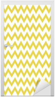 Zigzag pattern vector Door Sticker