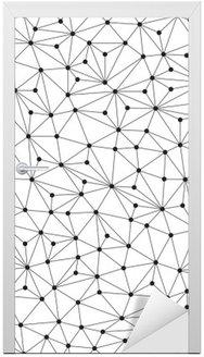 Polygonal baggrund, sømløst mønster, linjer og cirkler Dør Klistemærke