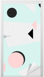 Dörrdekor Retro geometriskt mönster