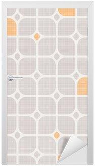 Dörrdekor Seamless geometriskt mönster