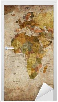 Dörrdekor Världskartan